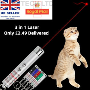 Powerful Red laser lazer pointer pen interactive cat toy with LED light(3 In 1)
