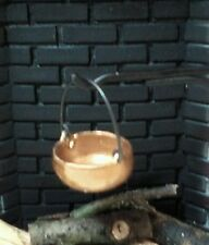 Dollhouse Miniatures Harmony Forge Handcrafted Fire Place chain /& hook