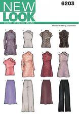 NEW LOOK Sewing Pattern Miss Ladies Plus Top+Tunic+Pants+Skirt~6203 Sz 8-18