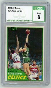 KEVIN MCHALE 1981-82 Topps Rc #75 CSG 6 Boston Celtics