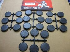 32 mm round bases for wargaming.