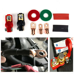 2 Pair Copper Battery Cable Terminals Negative Positive Clamps Quick Connector