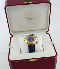CARTIER Pasha Gold Herren Uhr HAU 30011 Mondphase Wecker Box documents 2009 38mm