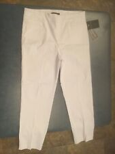 Zac & Rachel Women's Size 12 White Flat Front Ultimate Fit Pants NWT