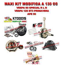 KIT MODIFICA APE 50 RST MIX CILINDRO 130 DR ALBERO MOTORE CAMPANA CARBURATORE 19