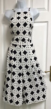 RIVER ISLAND UK12 Black & White Summer Cropped Jumpsuit Playsuit Cullottes