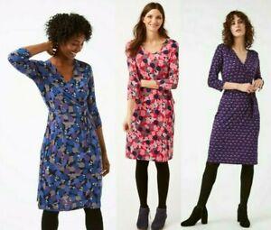 Women Ladies ex White Stuff printed jersey dress - three versions
