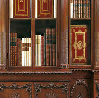 Dolls House Victorian Wallpaper Library Books Mural Quality Paper Miniature #02