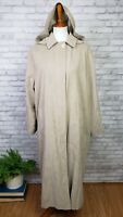 Vintage London Fog microfiber cloak style long coat w/ hood size 8 to 14