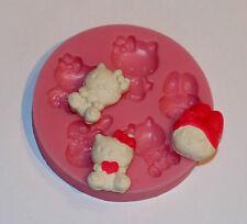 Silikonform 5 mini Hello Kitty Fondant Marzipan Tortendeko Seife 7cm Durchmesser