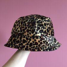 8cad5ab8487 Faux Leopard Fur Bucket Hat - Handmade - Festival