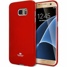 Genuine MERCURY Goospery Red Soft Jelly Case Cover Skin For Galaxy S7 Edge