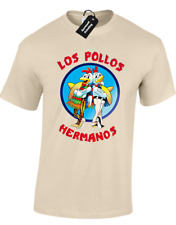 Los pollos hermanos Hombre Camiseta Breaking Bad Walter White de Cristal methlyamine
