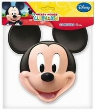X 6 MICKEY MOUSE DRESS UP CARD MASKS - FANCY DRESS PARTY BAG FILLERS FACE MASK