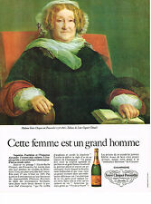PUBLICITE ADVERTISING   1967    VEUVE CLICQUOT- PONSARDIN  champagne