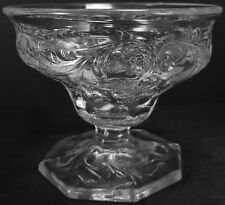 Vintage McKee Glass Clear Crystal Rock Crystal Pattern Low Footed Sherbet Cup