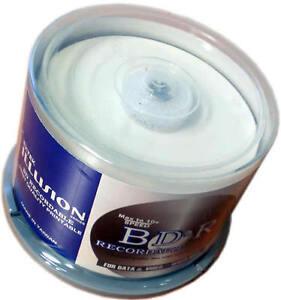 50 pk Extek Bluray Blu-ray BD-R BDR 25Gb 12x White Inkjet Printable Blank Discs