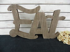"""Large Wood Die Cut """" EAT """" Distressed ~ Wooden Kitchen Home Decor Photo Prop"""