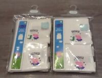 MOTHERCARE 2 PACKS OF 2 INFANT BOYS VESTS GEORGE AND DINO AGE 18-24 MONTHS NEW