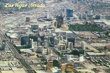 Aerial View of Las Vegas Nevada, Hotel Casinos on Strip, LV Boulevard - Postcard