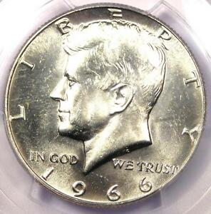 1966 Kennedy Half Dollar (50C Coin) - Certified PCGS MS66 - Rare in MS66 Grade!