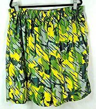 Zone Pro Men's Board Shorts, Gray, Green, Black & Yellow Camo Pattern, Size: 2XL