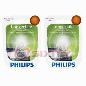 2 pc Philips Turn Signal Indicator Light Bulbs for Suzuki Esteem Samurai es
