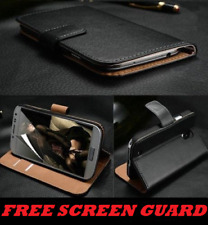 Luxury Genuine Real Leather Flip Case Wallet Cover for Samsung Galaxy A5 2017