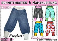 pdf.Schnittmuster und Nähanleitung Pumphose Gr.:92-128