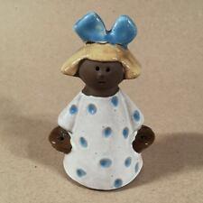Vintage Jie Gantofta Sweden ANNIKA KIHLMAN Pottery FLOWER GIRL, 4.75 Inches