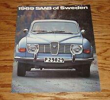 Original 1969 Saab Blue Car Cover Deluxe Sales Brochure 69