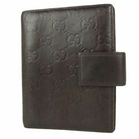 Auth GUCCI GG Guccissima Leather Agenda Book Cover Daily Planner F/S 12998b