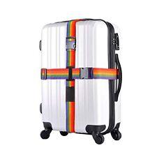 Adjustable Suitcase Luggage Straps W/ Lock Safe Travel Baggage Belt Buckle Cross