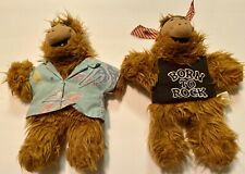 (SET OF 2) ALF Alien Plush Hand Puppets, VINTAGE-Circa 1988, PREOWNED