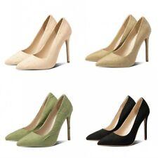 New Pumps Stilettos High Heel Pointy Toe Multi-color Women Wedding Bridal Shoes