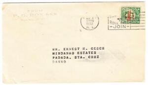 Philippines Sc#C18(single frank)-MANILA NOV/8/1932-RED CROSS SLOGAN CANCEL