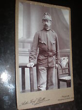 Cdv old photograph soldier by Bett at Tulln Austria c1890s Ref 37(13)