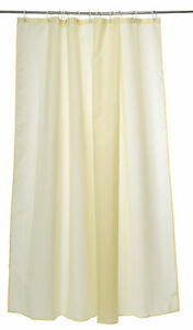 Lemon Weighted Bathroom Shower Curtains 180cm & Hooks Hotel B&B 1 5 or 10 Bundle