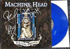 "MACHINE HEAD SIGNED RSD HIGH PRIESTESS 10""  BLUE VINYL RECORD ALBUM W/COA"