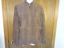 NEW WOMEN'S RELATIVITY BROWN LEATHER COAT SIZE M MSP $120.00