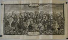 ØRESUND BATTLE OF SOUND DENMARK 1696 PUFENDORF ANTIQUE COPPER ENGRAVED MAP