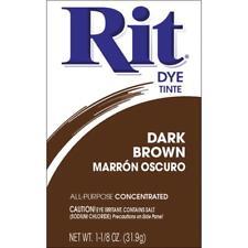 RIT Powdered DYE 1 1/8 oz Box Fabric Wood Wicker DARK BROWN
