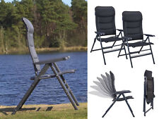 Bequeme XXL Alu Hochlehner Campingstühle - Klappstühle Relaxstuhl Garten Outdoor
