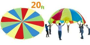 Sonyabecca Parachute, Play Parachute 20ft with 16 Handles for Rainbow