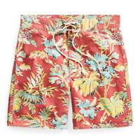 $265 Double Ralph Lauren RRL Hawaiian Island Twill Red Swim Board Short Shorts