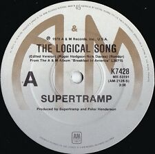 Supertramp ORIG OZ 45 Logical song EX '79 Album Rock Art Rock