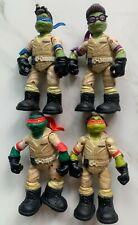 4 x Teenage Mutant Ninja Turtles Ghostbusters Leonardo Raphael Donatello Figures