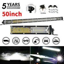 "Straight Slim 50"" inch Dual Row LED Light Bar Combo Offroad Truck SUV 4WD VS 52"""