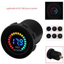 Car Motorcycle 12V-24V LED Amp Dual Digital Volt Meter Gauge Voltmeter Ammeter