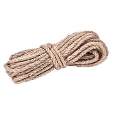 1*10M 6mm Jute String Twine Twisted Hessian Burlap Hemp Cord Rope BrownFF